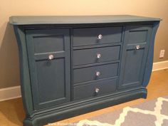 chalk paint for furniture   Chalk Paint Makeover: From Changing Table to Office Console