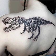 Imagen de dinosaur and tattoo