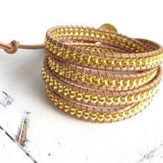 A personal favorite from my Etsy shop https://www.etsy.com/listing/271307226/gold-chain-wrap-layering-bracelet-in