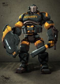 Robot Security by ~thaigraff on deviantART