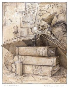 Jean-Baptiste Monge drawing lutin books on We Heart It Magical Creatures, Fantasy Creatures, Elves And Fairies, Children's Book Illustration, Creature Design, Graphic, Illustrators, Fantasy Art, Book Art