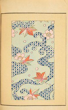 Shin-bijutsukai - leaf shapes; also the optically shifting blue-white pattern