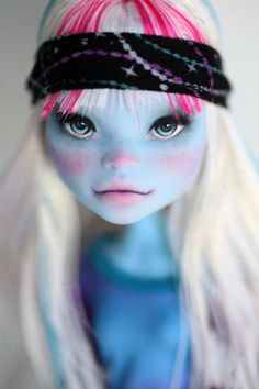 Monster High Abbey Repaint Doll by chercheto on Etsy, $100.00
