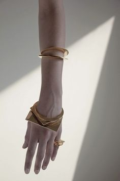 Hi-Rise Cutouts Stacking Rings, Cutouts Bangles, Crescent Bangles by Samma, FW11 by ava