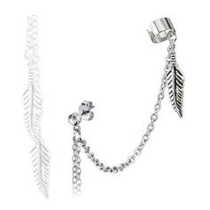 Ohrstecker mit Ohrklemme Feder Piercing, Ear, Bracelets, Silver, Jewelry, Studs, Bangle Bracelets, Jewlery, Piercings