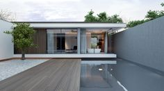 contemporary summer house | garden room || Piano house by Line Architects