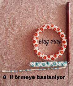 Crochet Beaded Bracelets, Bead Crochet Rope, Bead Loom Bracelets, Beaded Jewelry Patterns, Bracelet Patterns, Beading Patterns, Crochet Earrings, Bracelet Tutorial, Loom Beading