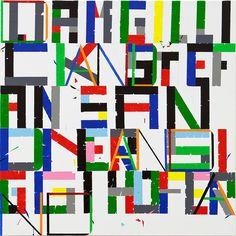 Siggi Hofer And,2011 Acryl and pencil on canvas 100 x 100 cm