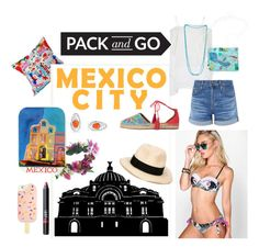 """""""Mexico city vibes"""" by katestyls02 on Polyvore featuring NARS Cosmetics, Boohoo, Bling Jewelry, Rock 'N Rose, Aquazzura, AG Adriano Goldschmied, Echo, Eugenia Kim and Tory Burch"""