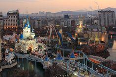 Lotte World - a fantasy realm in urban Korea.