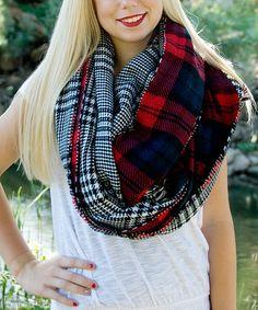 Love this Red & White Plaid Blanket Scarf on #zulily! #zulilyfinds