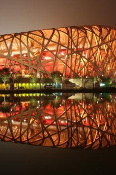 Beijing National Stadium called Bird's Nest, Beijing, China by Herzog & de Meuron Architects Amazing Buildings, Amazing Architecture, Modern Architecture, Rem Koolhaas, Beautiful World, Beautiful Places, Amazing Places, Beijing National Stadium, Magic Places