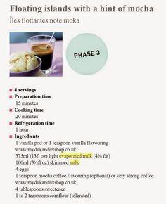 Όλα για τη δίαιτα Dukan: Νουνού light και Ντουκάν. Floating Island, Evaporated Milk, Vanilla Flavoring, Cooking Time, Mocha, Condensed Milk