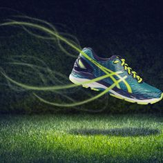 """Curently working on my product shots. Feel the Boost is my newest shot. The idea behind this one is to show the Energy of the running shoe. Flash Setup was really simple: 1 Flash only with a reflector from camera left and a 70cm deep octa from camera right. The """"energy"""" was created within photoshop (custom brush)"""