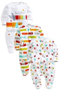 Buy Sausage Dog Bodysuits Three Pack (3-18mths) from the Next UK online shop