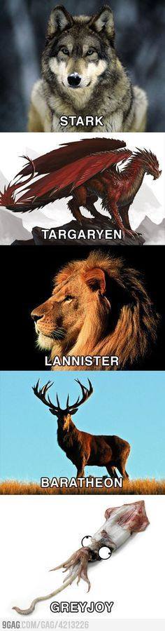 The Great Houses of Westeros. #gameofthrones #got #asoiaf