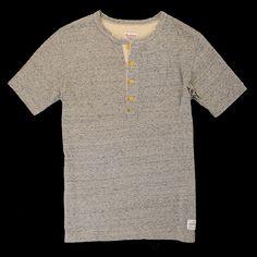 UNIONMADE - Anachronorm - Slab Henley Tee in Grey