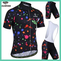 SIILENYOND Pamela 2017 Quick-Dry Cycling Jersey Set 100% Polyester MTB Bicycle Clothing Set Verano Ropa Maillot Ciclismo