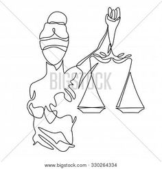 Stock Vector By Samui Boho Tattoos, Mini Tattoos, Lawyer Tattoo, Justice Tattoo, Daddy Tattoos, Cute Panda Wallpaper, Scale Tattoo, Abstract Face Art, Lady Justice