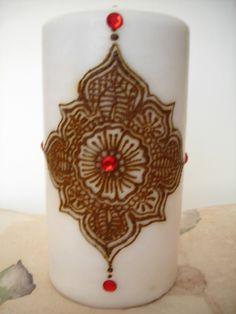 Ruby Mandala Henna Candle. $35.00, via Etsy.