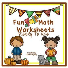 Kindergarten Math Printables | Fall Math Activities Kindergarten Math Printables | Fall Math Activities:  Your students will love this engaging set of 30 fall worksheets covering many standards of kindergarten math! This packet of worksheets is a great way to practice kindergarten math!  Kindergarten Math Printables Includes:  Roll, Add and Color Color by Number Graphing Roll and Color to 50 Roll and Color to 100 Fill in the Missing Number 1-10 and 1-20 Count and Label Sets Sort Odd and Even…