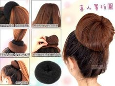 1PC Plate Hair Donut Bun Maker Magic Foam Sponge Hair Styling Elastic WCA044 #Unbranded #Fashion