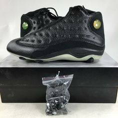 watch 87554 d0eed 2004 Air Jordan XIII (13) D Baseball Cleats Playoffs 309285061 Size 9.5, NEW