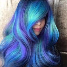 Beautiful crazy hair color