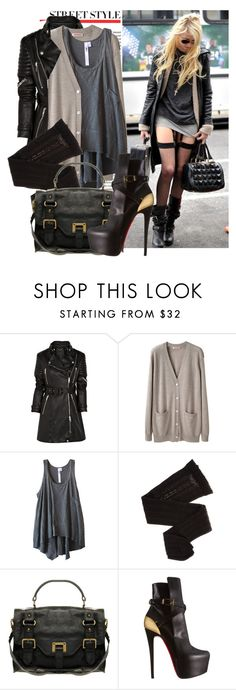 """""""Get the look:Taylor Momsen"""" by diana1717 ❤ liked on Polyvore featuring Burberry, Organic by John Patrick, Wilt, Trasparenze, Warehouse and Christian Louboutin"""