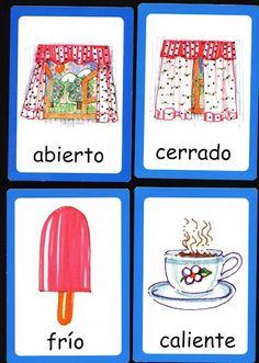 Tarjetas vocabulario. Opuestos