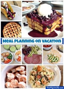 Meal plan with grocery list for beach vacation (or any other type ...