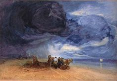 """Storm on Yarmouth Beach"" by John Sell Cotman"