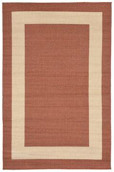 Terrace 1786/74 Border Terracotta Rug