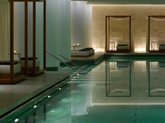 Bulgari Hotel London is an exclusive design hotel in Knightsbridge. Bulgari Hotel London offers spacious & luxurious rooms & suites and a large spa plus pool. London Hotels, Bulgari Hotel London, Spa London, Bvlgari Hotel, Milan Hotel, Spa Design, Design Hotel, Design Ideas, Spa Interior Design