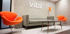 Parterre utilized a plethora of luxury vinyl flooring products to outfit Vital Design's new workspace in Portsmouth New Hampshire Luxury Vinyl Flooring, Dining Bench, University, Projects, Design, Furniture, Home Decor, Log Projects, Dining Room Bench