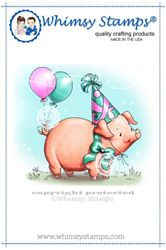 Whimsy Stamps - Party Pig C1107