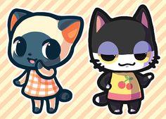Animal Crossing :D Animal Crossing Cats, Dibujos Cute, Cute Games, Folk, New Leaf, Game Art, Chibi, Pokemon, Character Design
