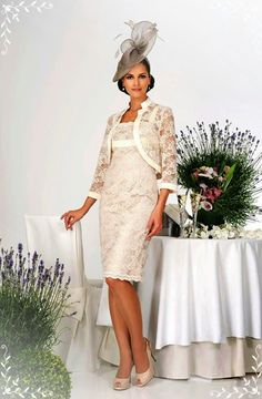 Dress Code by Veromia, elegant lace dress & bolero, perfect for the vintage wedding trend. By Classy Rags, Liverpool & Frodsham Bride Groom Dress, Groom Outfit, Wedding Suits, Wedding Dresses, Bride Dresses, Mother Of The Bride Gown, Mother Bride, Mob Dresses, Dresses 2016