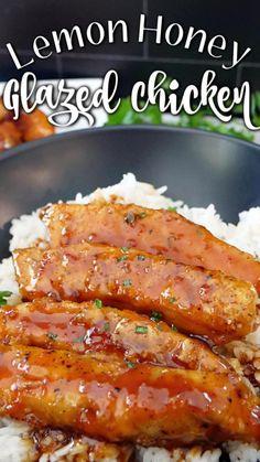 Honey Glazed Chicken, Baked Chicken, Frugal Meals, Easy Meals, Chicken Strip Recipes, Incredible Recipes, Dinner Recipes, Dinner Ideas, Cooking Recipes