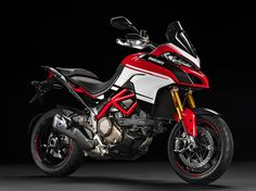 The 2016 Ducati Multistrada 1200 Pikes Peak makes us weak in the knees. Checkout these high-resoltuion images of the adventure-sport motorcycle. Bmw Touring Bike, Bike Bmw, Touring Motorcycles, Ducati Motorcycles, Moto Ducati, Ducati Scrambler, Ducati Multistrada 1200, Pikes Peak, Mv Agusta