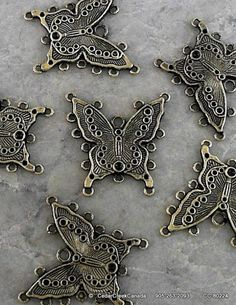 Butterfly Alloy Chandelier Components          by CedarCreekCanada, $3.95