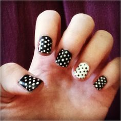 Polka dot nail art!  Use Avon's Dual Ended Nail Dotting Tool. #avon #nails #diy