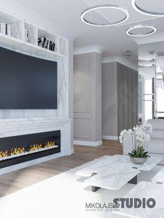 luxurious apartment-fireplace - zdjęcie od MIKOŁAJSKAstudio - Salon - Styl Art deco - MIKOŁAJSKAstudio