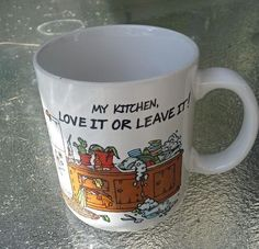 Hallmark Collectible-My Kitchen Love it or Leave it! Mug Cup by Mugs 8oz Cerami in Collectibles, Decorative Collectibles, Decorative Collectible Brands | eBay