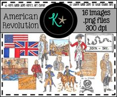 KERRI'S ART CORNER American Revolution Clip Art 32 original illustrations/graphics (color and black and white .png versions of each graphic) for personal and commercial use! Boston Tea, Art Corner, Benjamin Franklin, American Revolution, Social Studies, New Art, Tea Party, Commercial, British