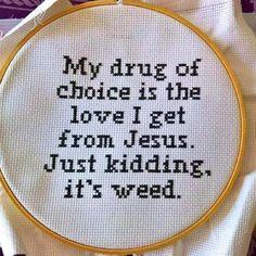 Cross Stitching, Cross Stitch Embroidery, Cross Stitch Patterns, Funny Embroidery, Hand Embroidery, Learn Embroidery, Embroidery Ideas, Crochet Patterns, Just Kidding