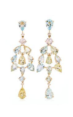 Statement Earrings, Women's Earrings, Diamond Jewelry, Diamond Earrings, Fine Jewelry, Women Jewelry, Aquamarine Gemstone, Emerald Diamond, Schmuck Design