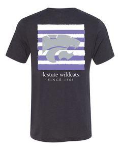 KSU Canvas Striped T-Shirt - Women    K-State Super Store