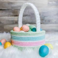 Classic Easter Basket FREE Crochet Pattern Craft Stick Crafts, Crafts To Sell, Craft Ideas, Easter Crafts For Kids, Easter Decor, Easter Ideas, Easter Centerpiece, Bunny Crafts, Easter Table