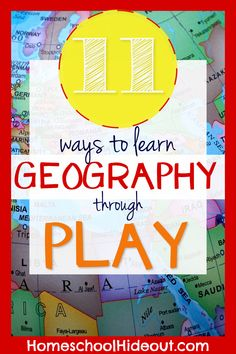 Learn Geography Through Play - Homeschool Hideout 2nd Grade Geography, World Geography Games, Geography For Kids, Geography Activities, Geography Lessons, Social Studies Activities, Teaching Social Studies, Teaching History, Teaching Kids